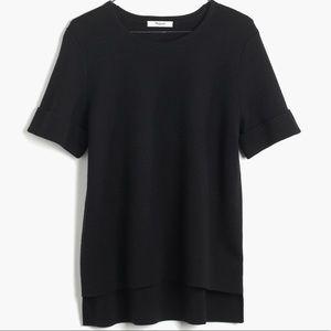 Madewell Short Sleeve Black Sweater